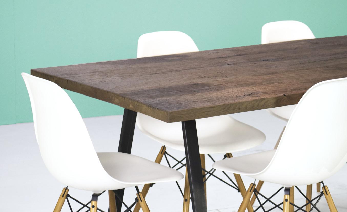 Plateau table bois vieilli for Plateau table sur mesure